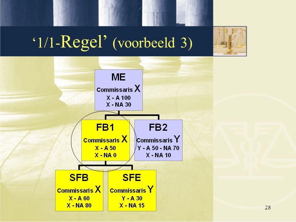 '1/1-Regel' (voorbeeld 3)