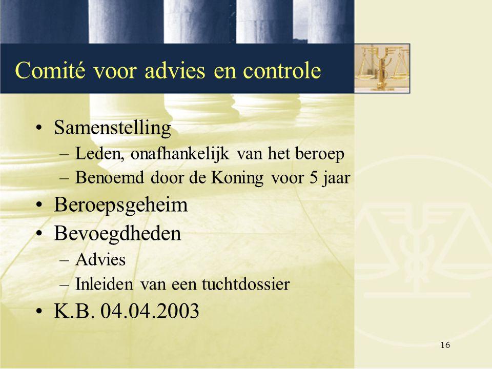Comité voor advies en controle