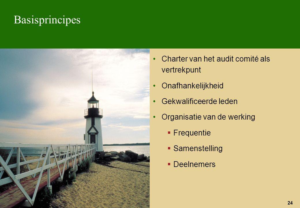 Basisprincipes Charter van het audit comité als vertrekpunt