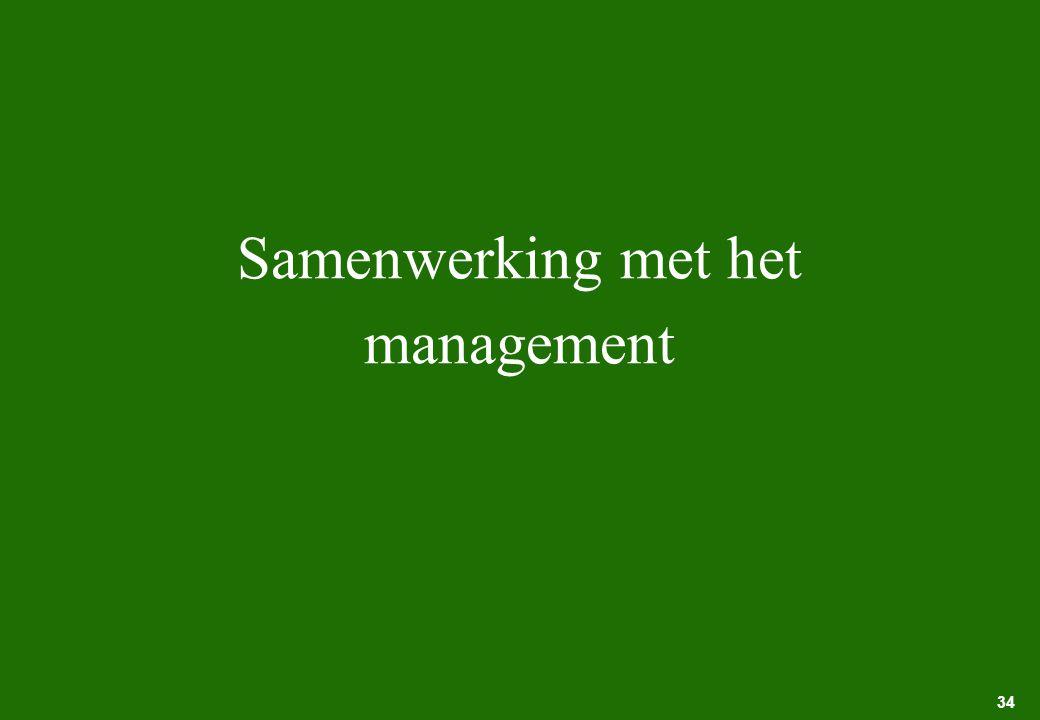 Samenwerking met het management