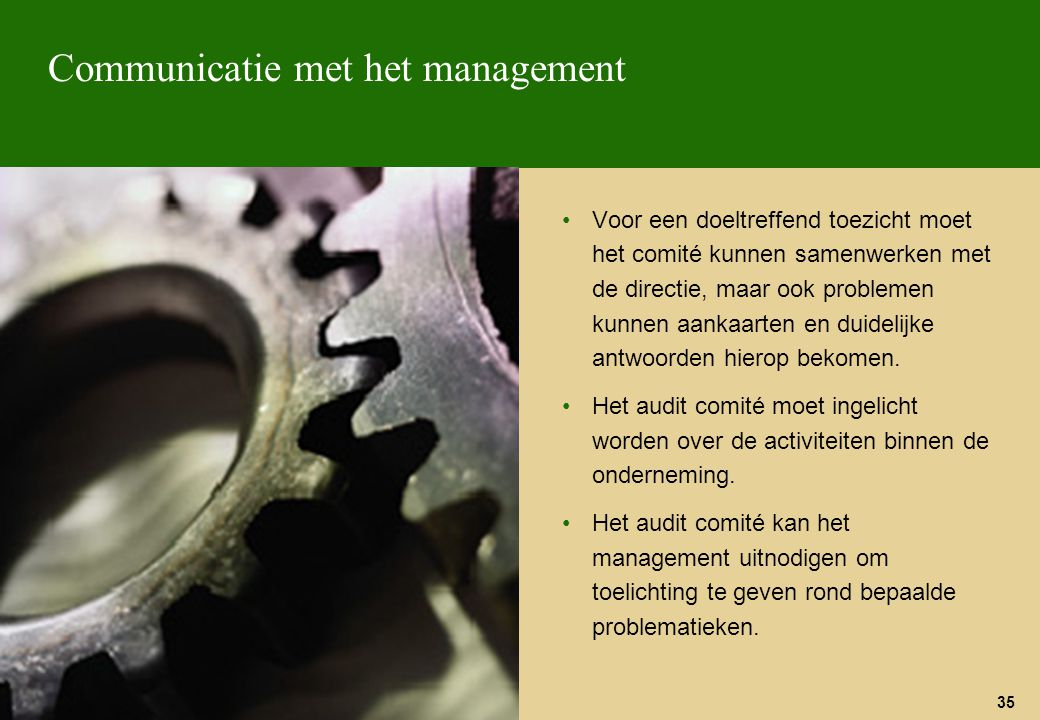 Communicatie met het management