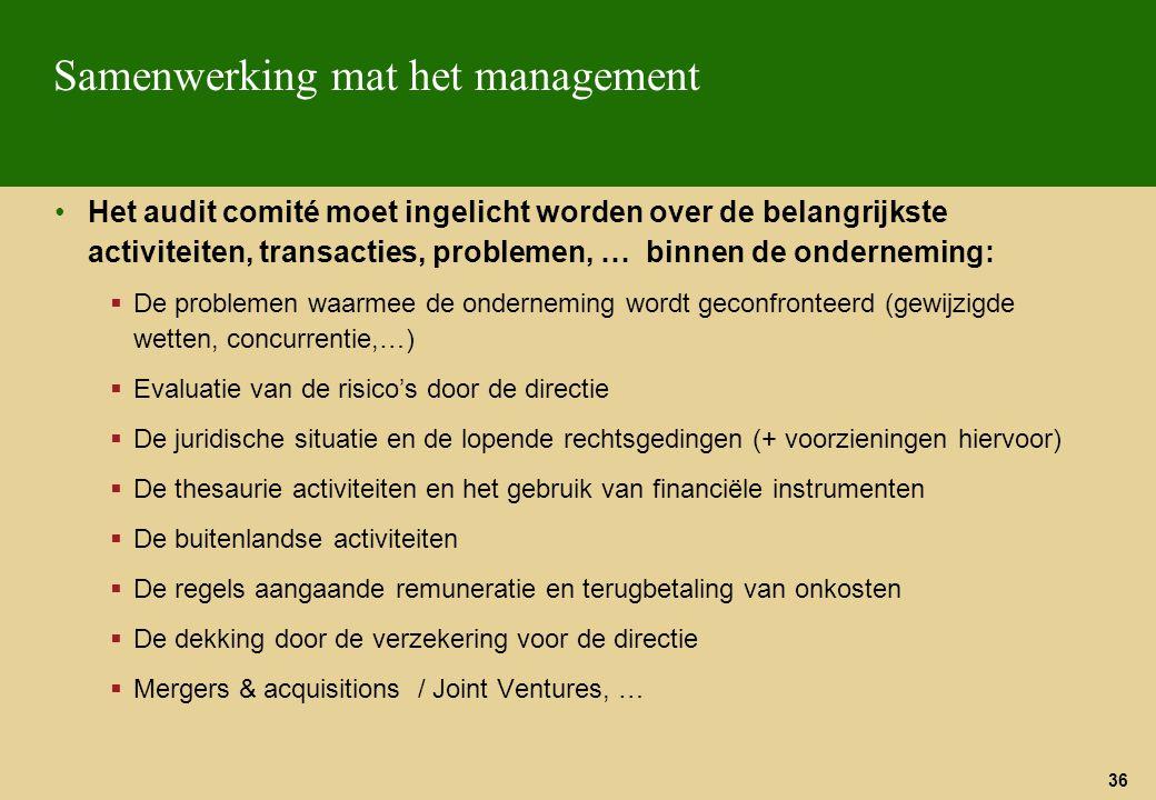 Samenwerking mat het management