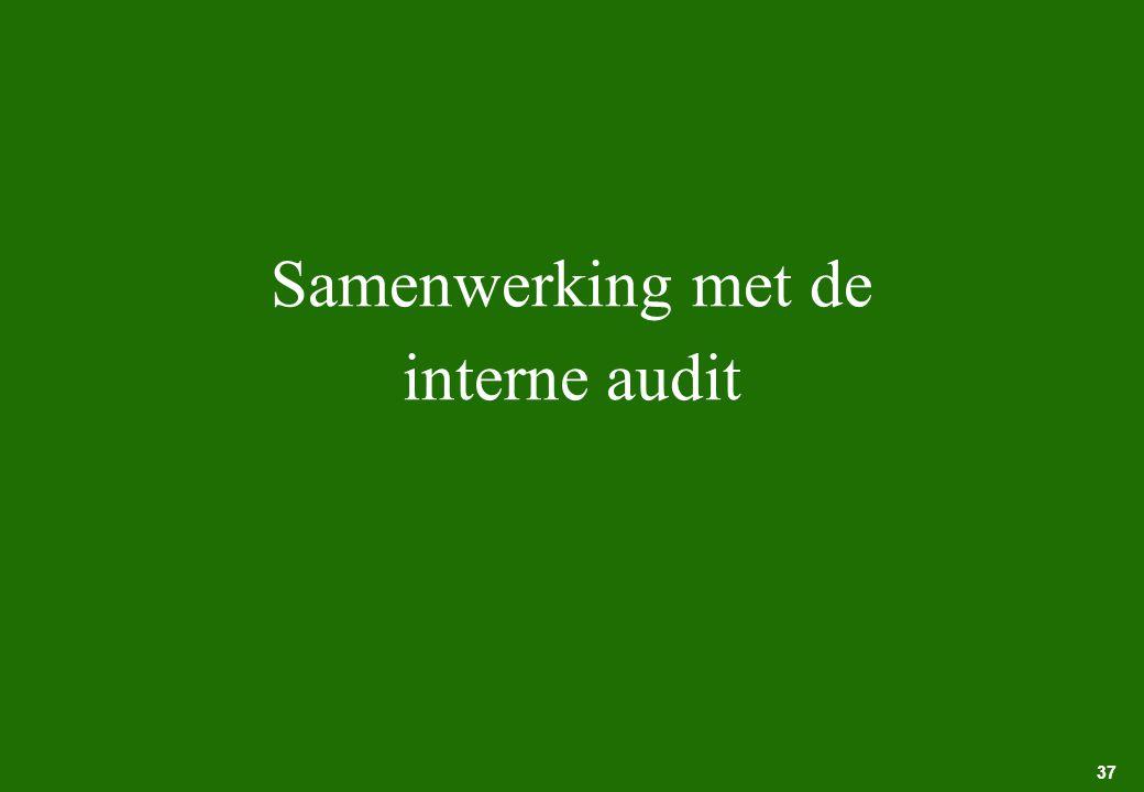 Samenwerking met de interne audit