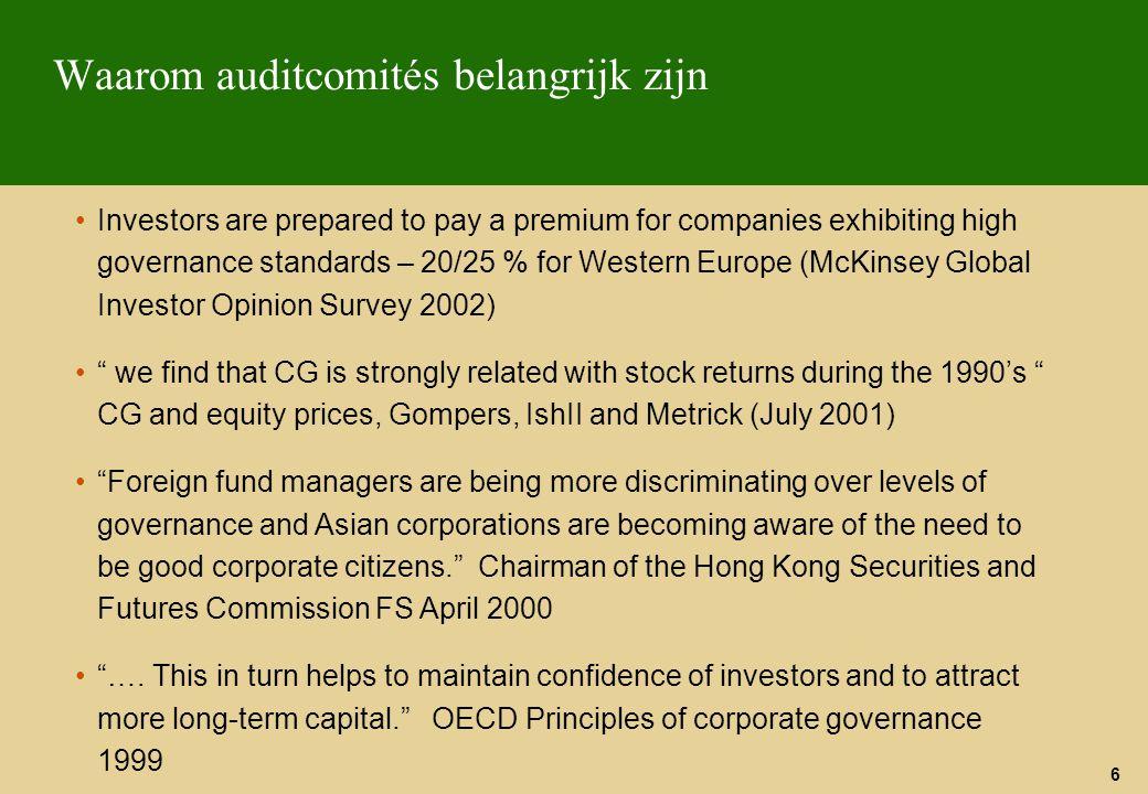 Waarom auditcomités belangrijk zijn