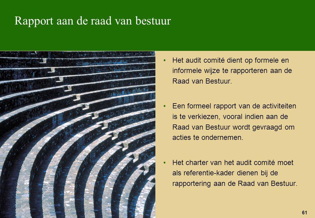 Rapport aan de raad van bestuur