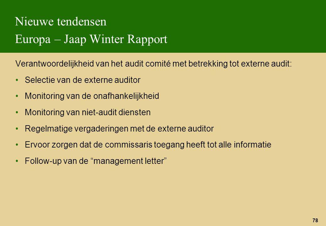 Nieuwe tendensen Europa – Jaap Winter Rapport