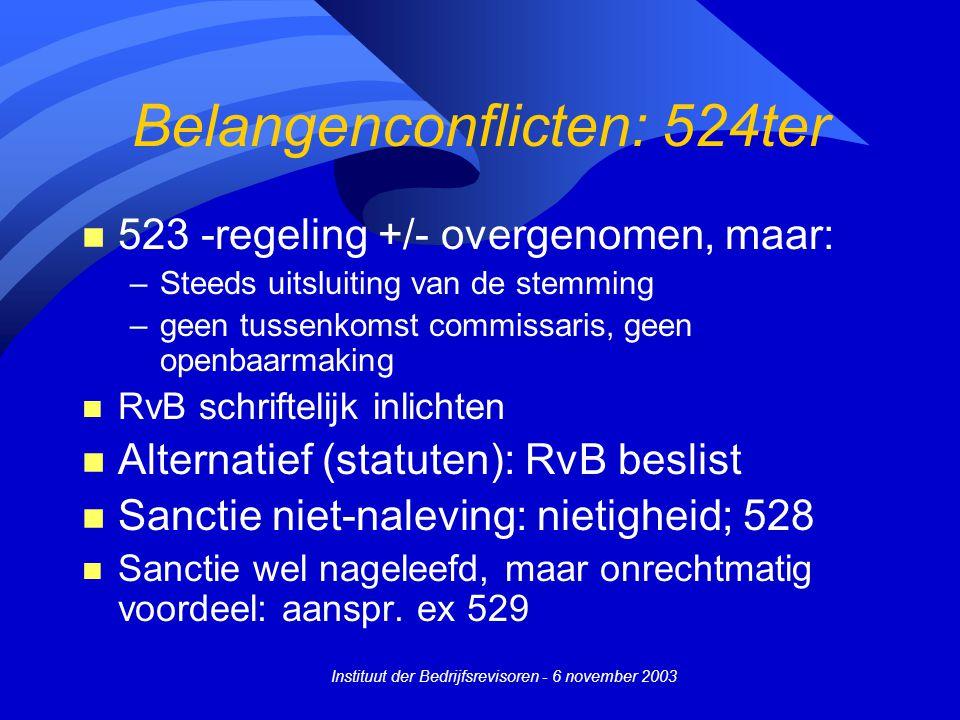 Belangenconflicten: 524ter