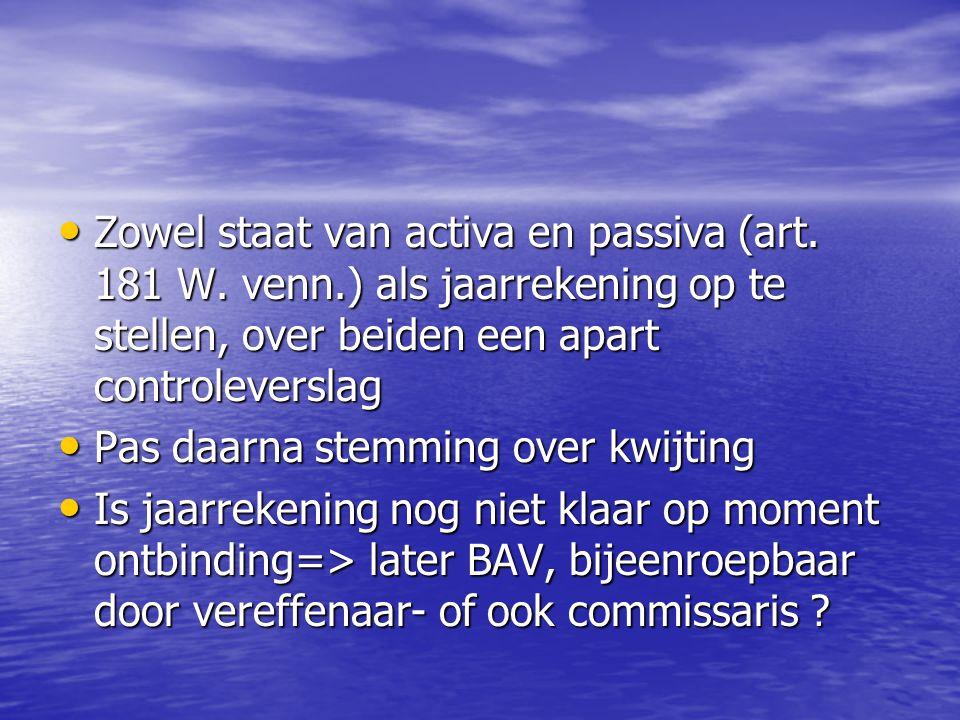 Zowel staat van activa en passiva (art. 181 W. venn