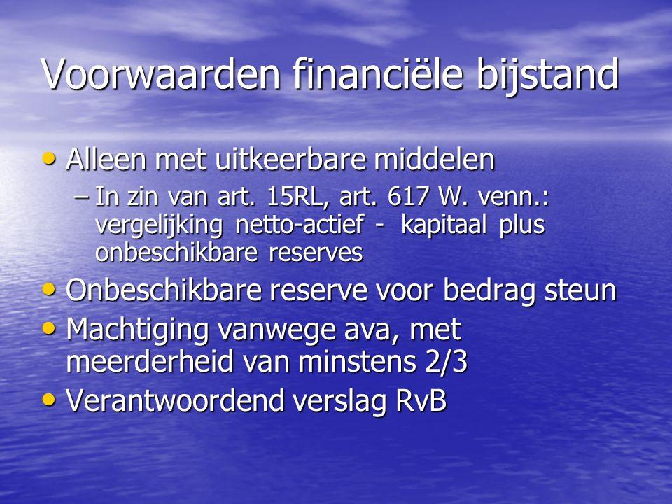 Voorwaarden financiële bijstand