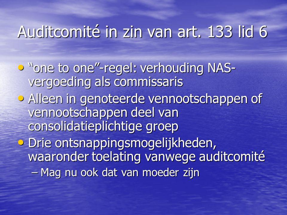Auditcomité in zin van art. 133 lid 6
