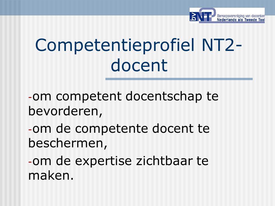 Competentieprofiel NT2-docent