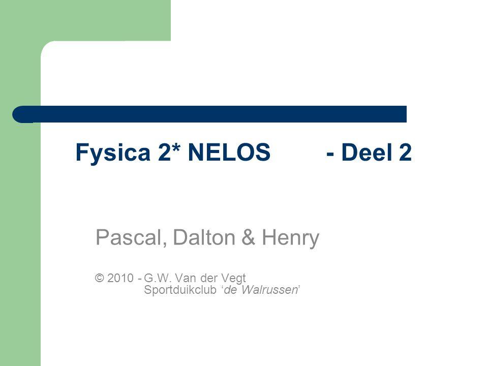 Fysica 2* NELOS - Deel 2 Pascal, Dalton & Henry
