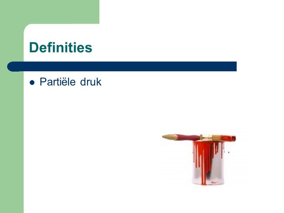 Definities Partiële druk