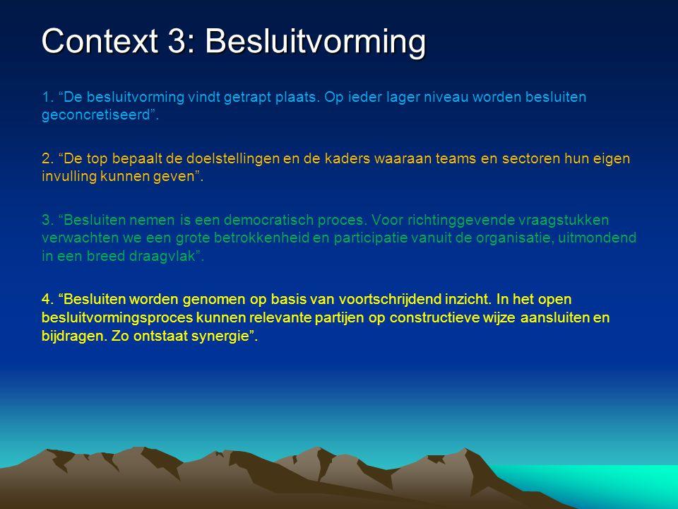 Context 3: Besluitvorming
