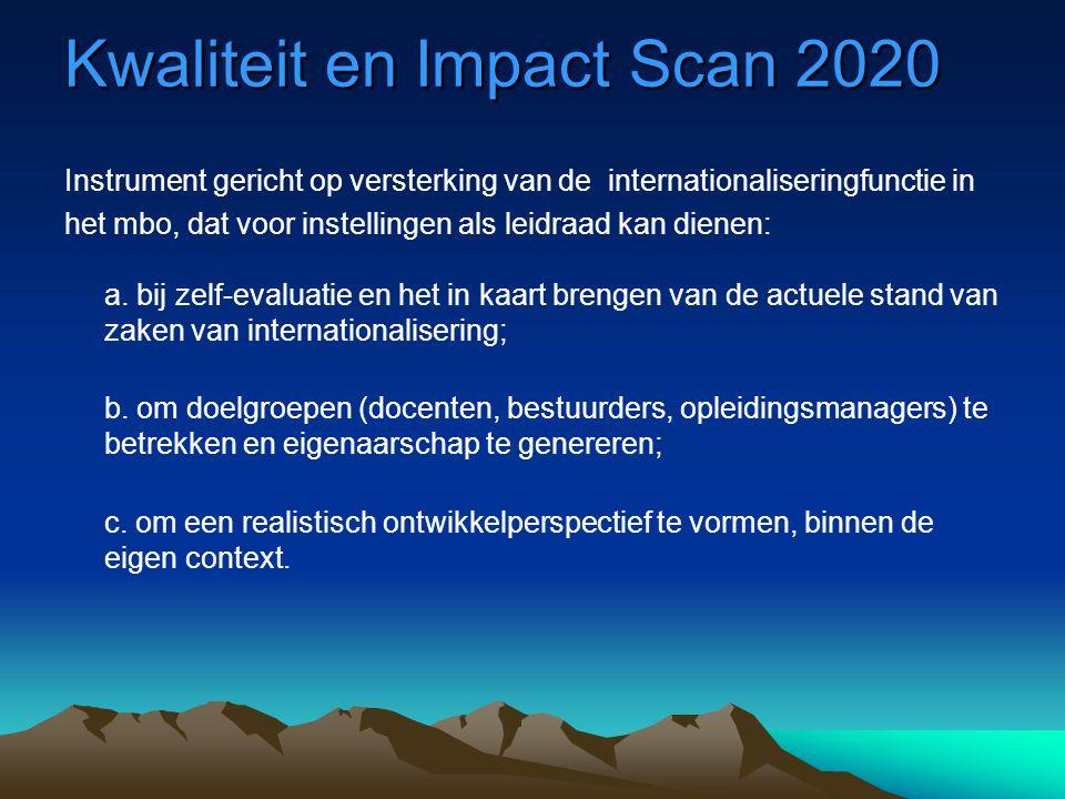 Kwaliteit en Impact Scan 2020