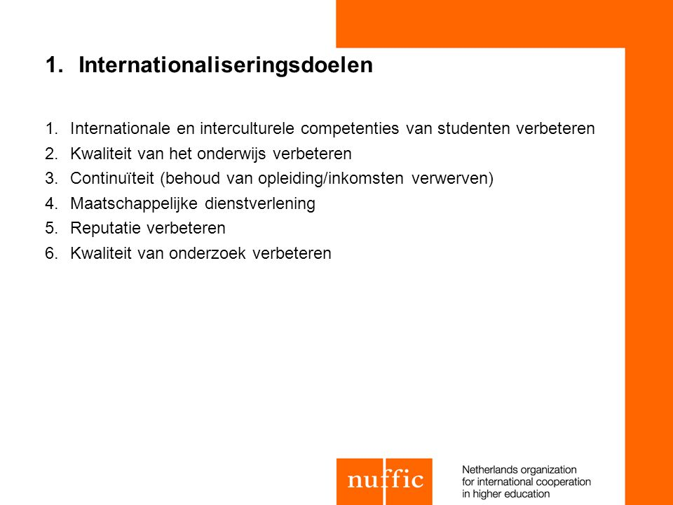 Internationaliseringsdoelen