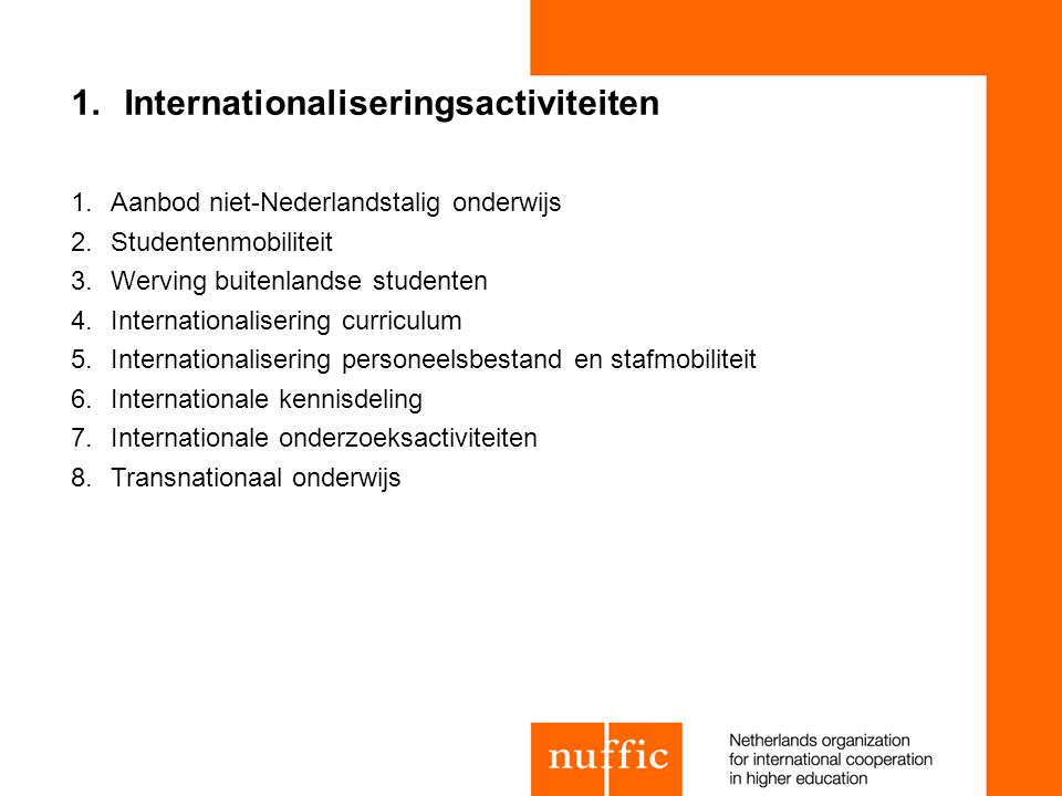 Internationaliseringsactiviteiten