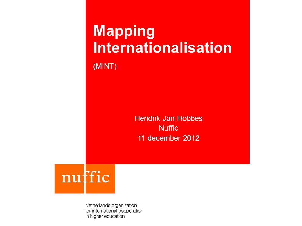 Mapping Internationalisation (MINT)