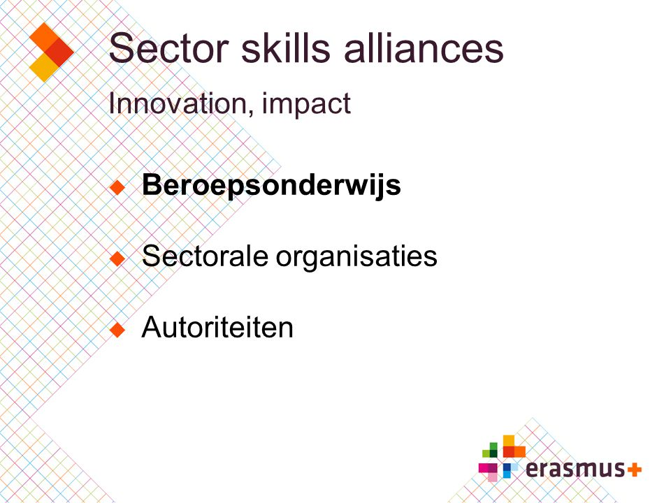 Sector skills alliances