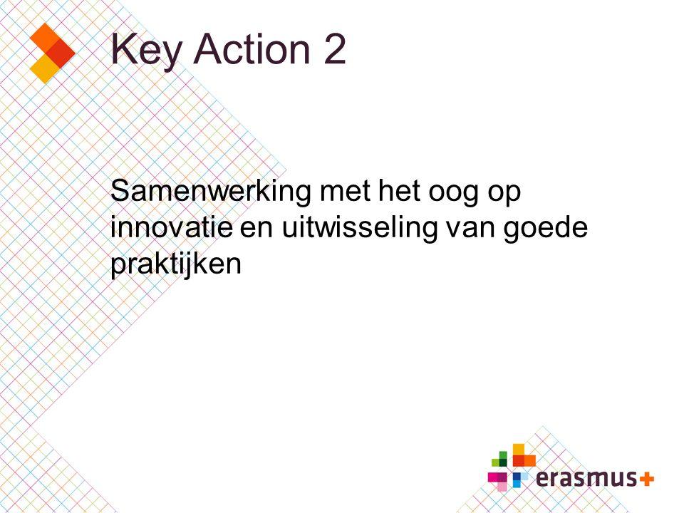 Key Action 2 Samenwerking met het oog op innovatie en uitwisseling van goede praktijken
