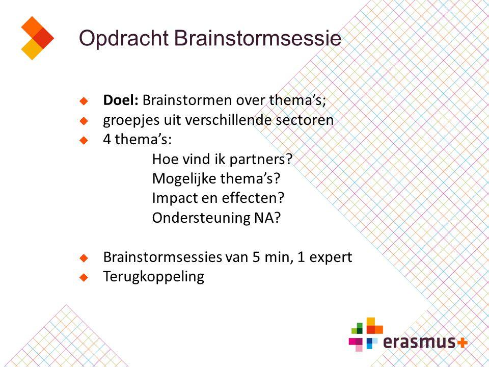 Opdracht Brainstormsessie