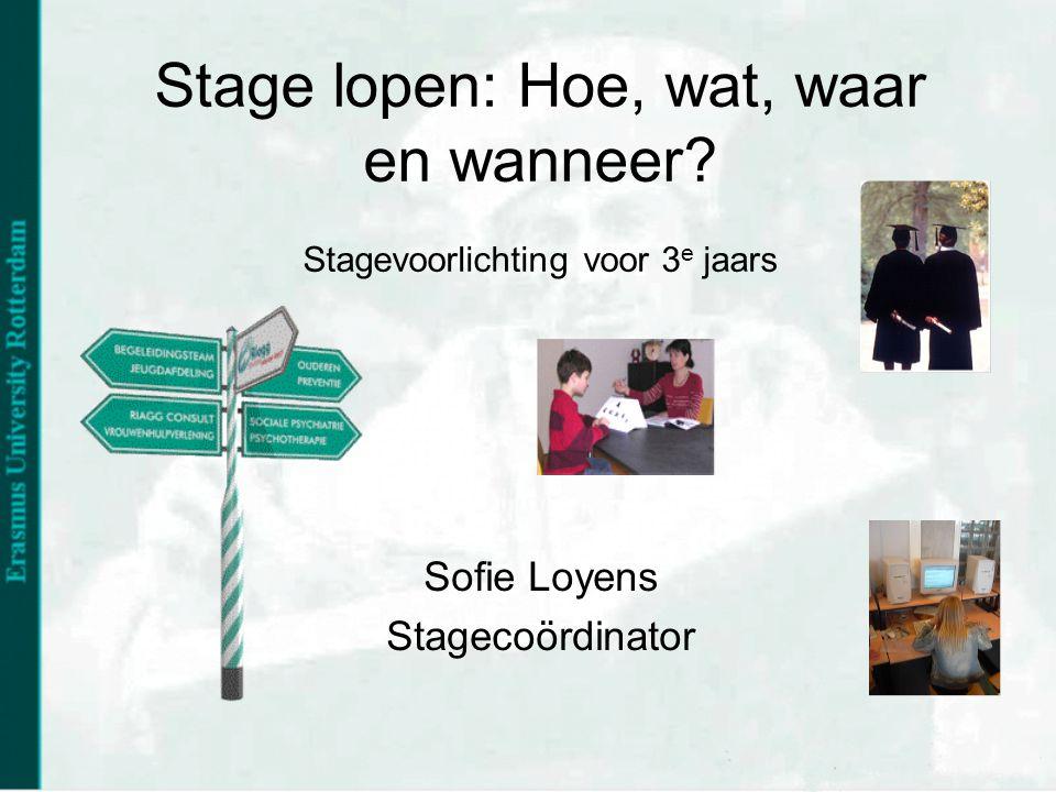 Sofie Loyens Stagecoördinator