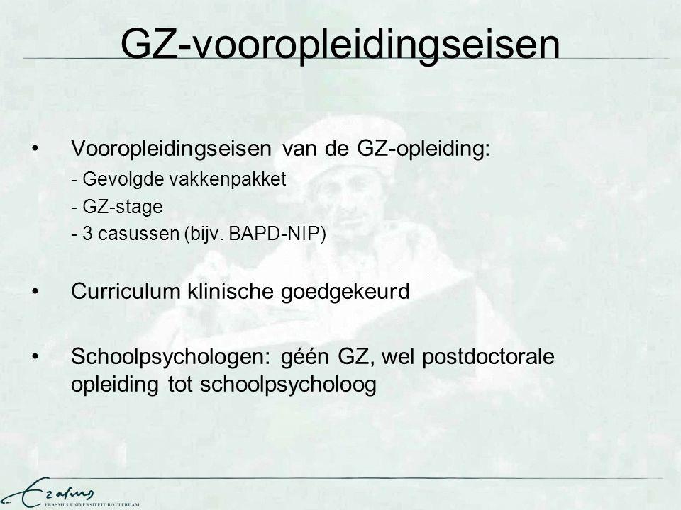 GZ-vooropleidingseisen