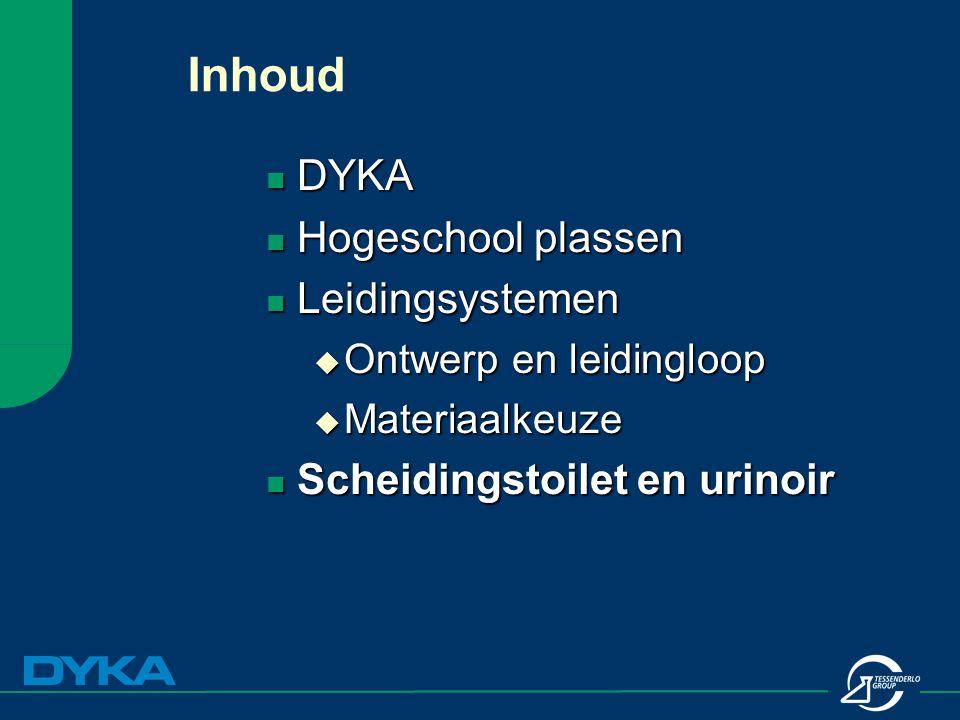 Inhoud DYKA Hogeschool plassen Leidingsystemen