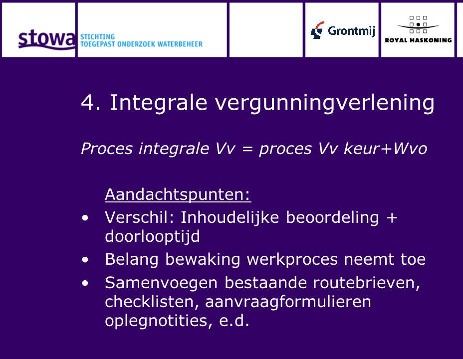 4. Integrale vergunningverlening