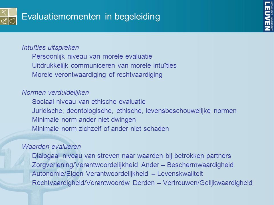 Evaluatiemomenten in begeleiding