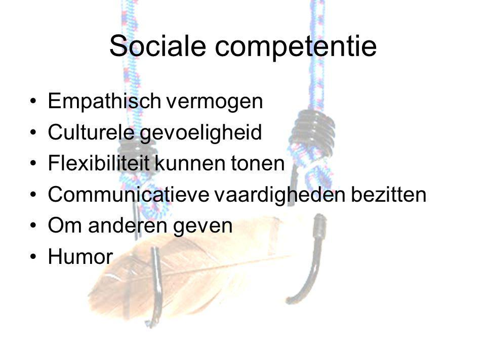 Sociale competentie Empathisch vermogen Culturele gevoeligheid