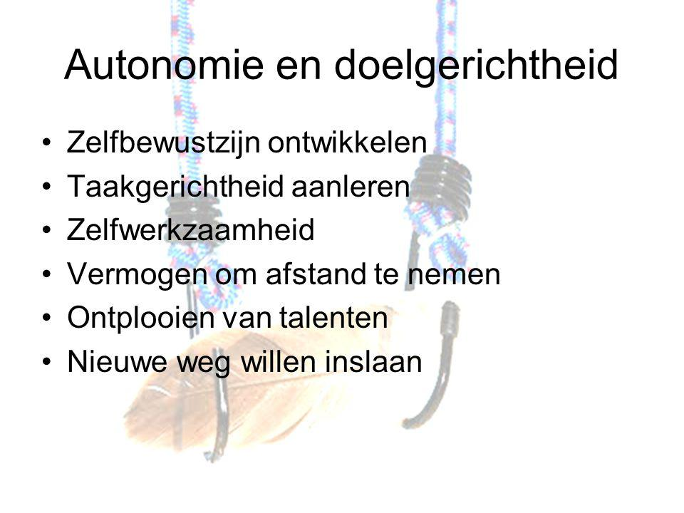 Autonomie en doelgerichtheid