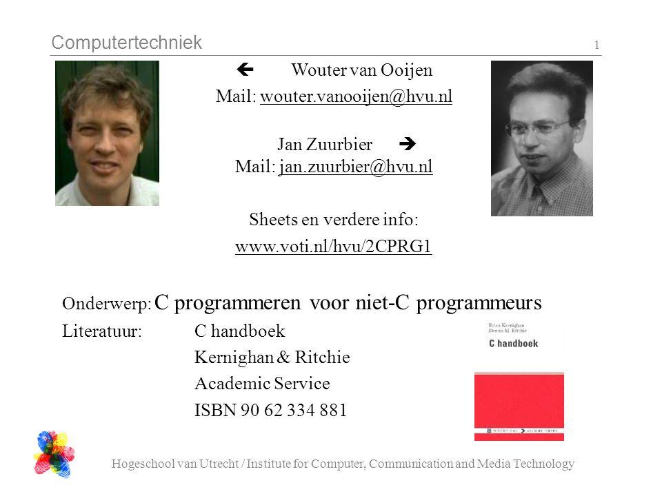 Mail: wouter.vanooijen@hvu.nl Jan Zuurbier  Mail: jan.zuurbier@hvu.nl