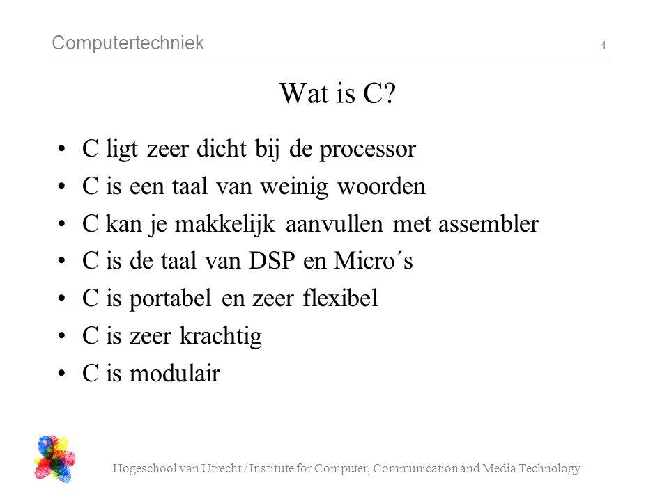 Wat is C C ligt zeer dicht bij de processor