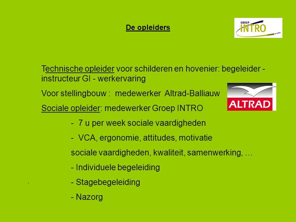 Voor stellingbouw : medewerker Altrad-Balliauw