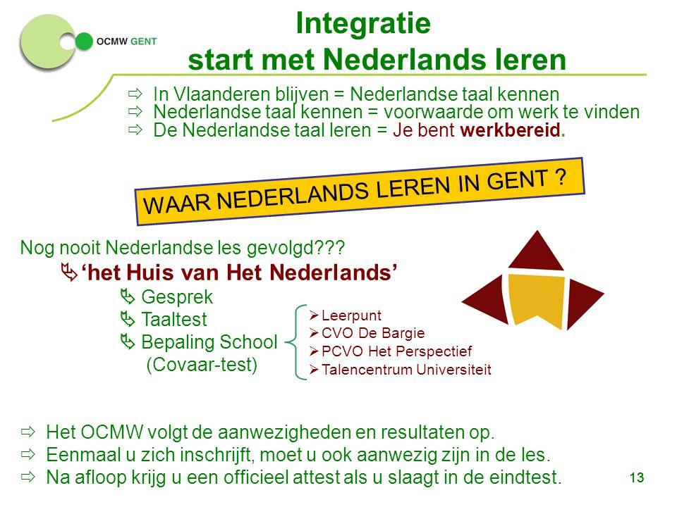 Integratie start met Nederlands leren