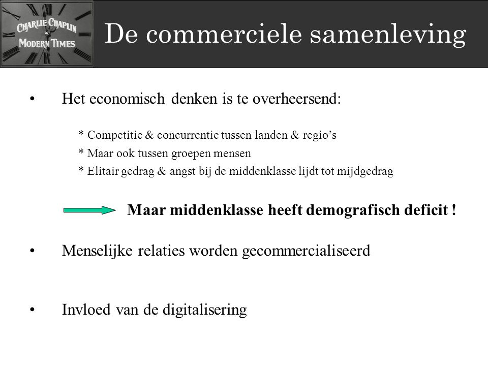De commerciele samenleving