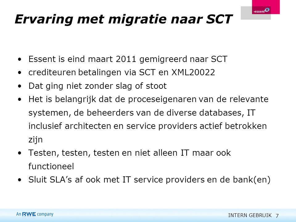 Ervaring met migratie naar SCT
