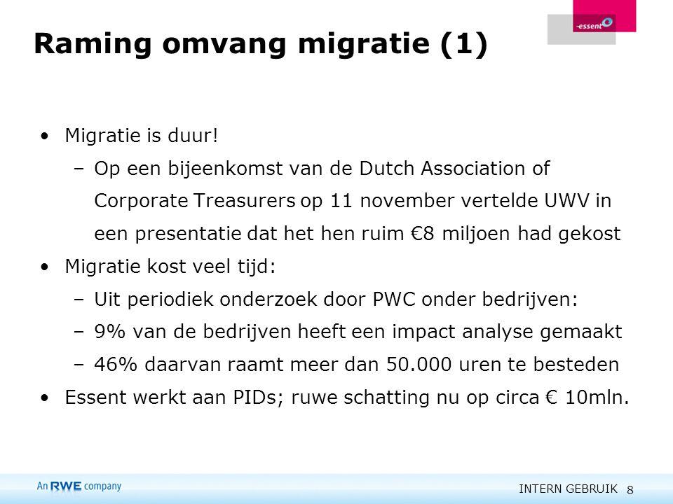 Raming omvang migratie (1)