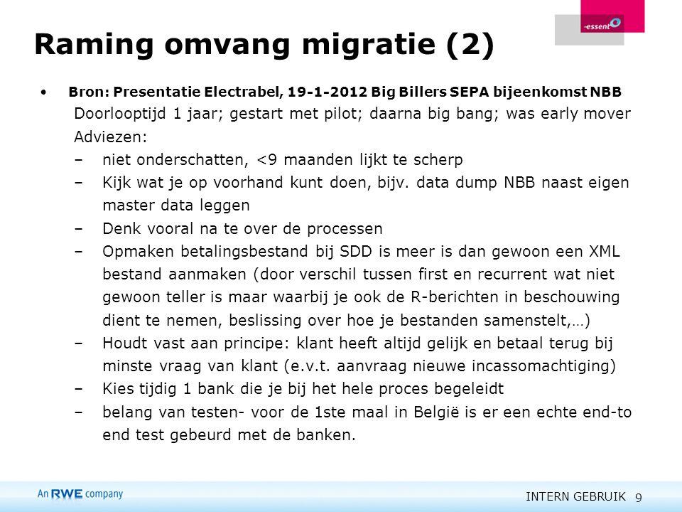 Raming omvang migratie (2)