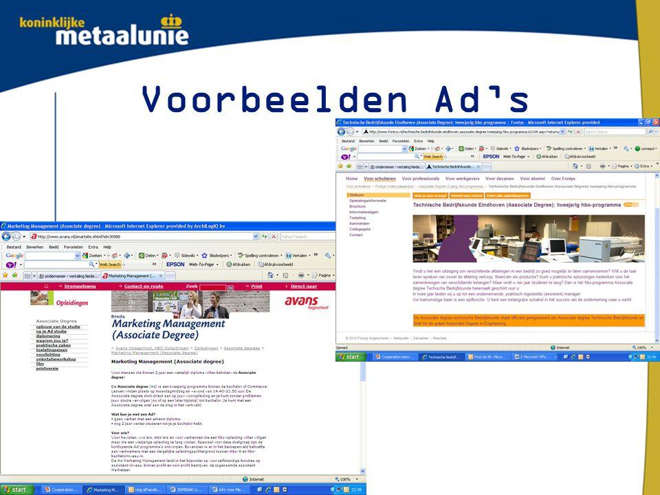 Voorbeelden Ad's