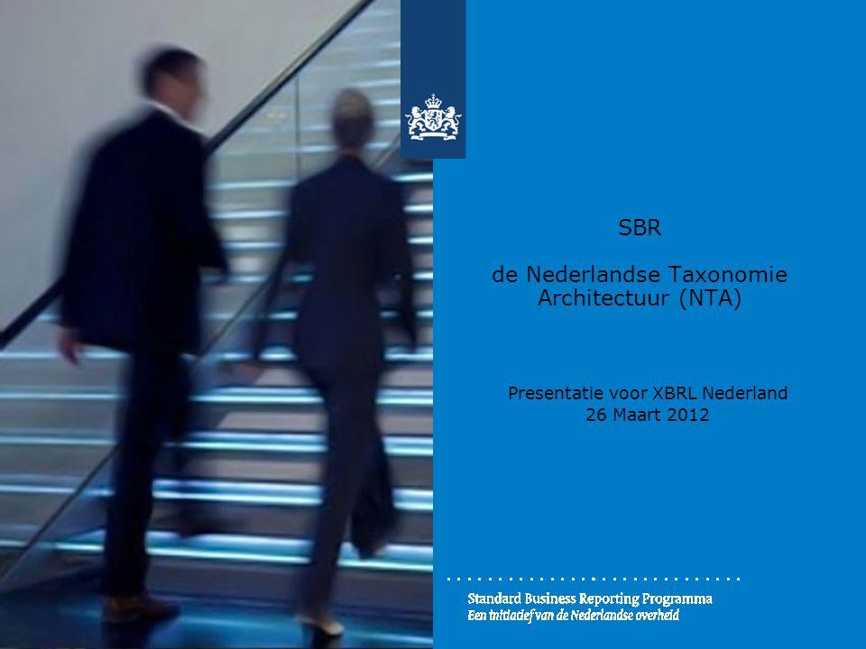 SBR de Nederlandse Taxonomie Architectuur (NTA)