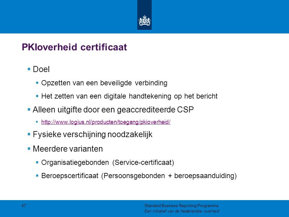 PKIoverheid certificaat