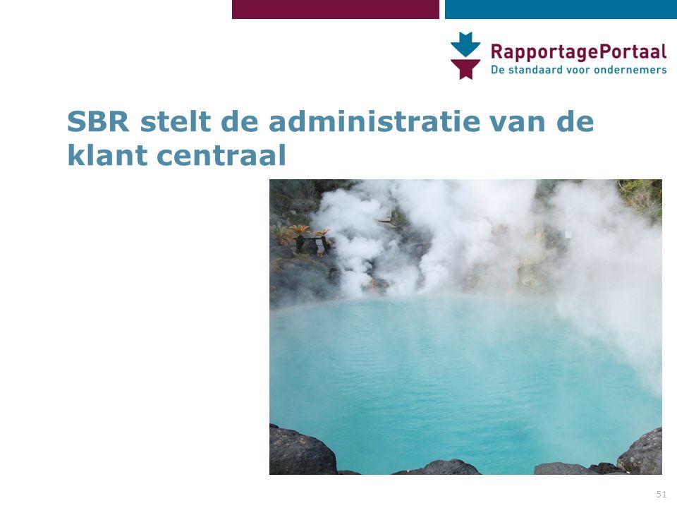 SBR stelt de administratie van de klant centraal