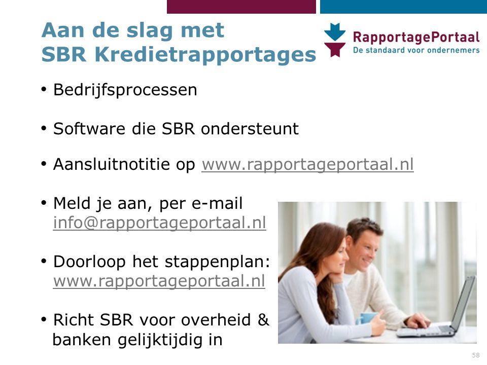 Aan de slag met SBR Kredietrapportages