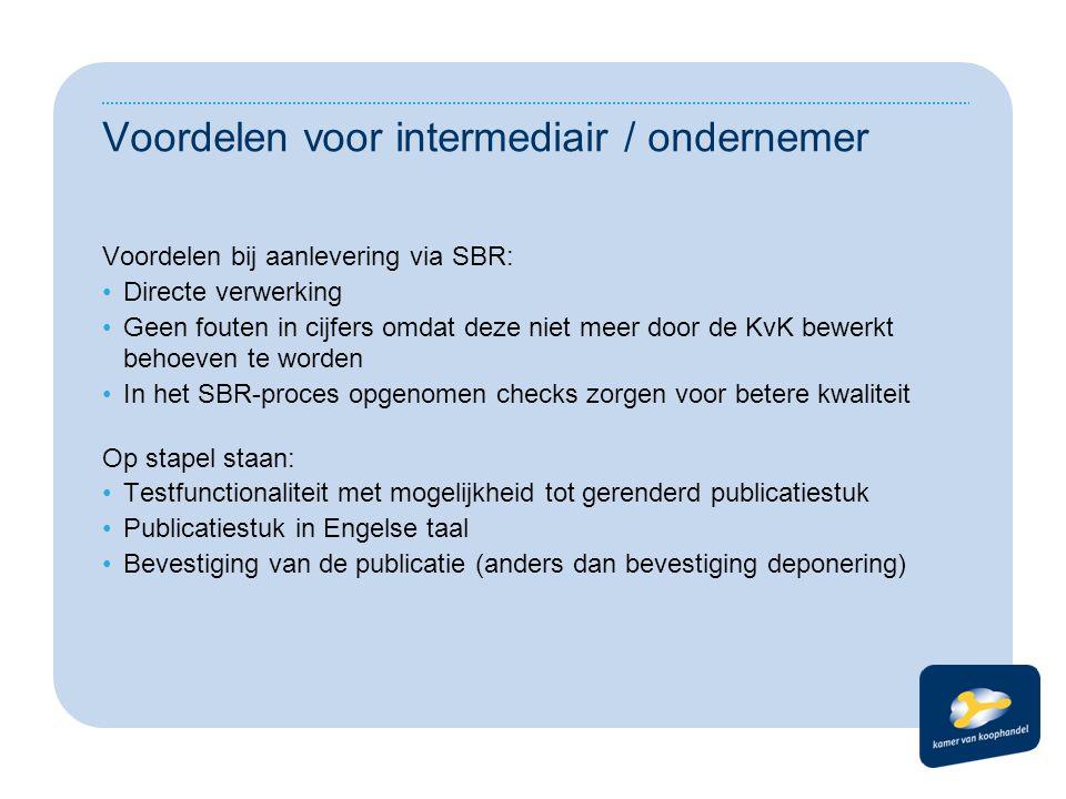 Voordelen voor intermediair / ondernemer