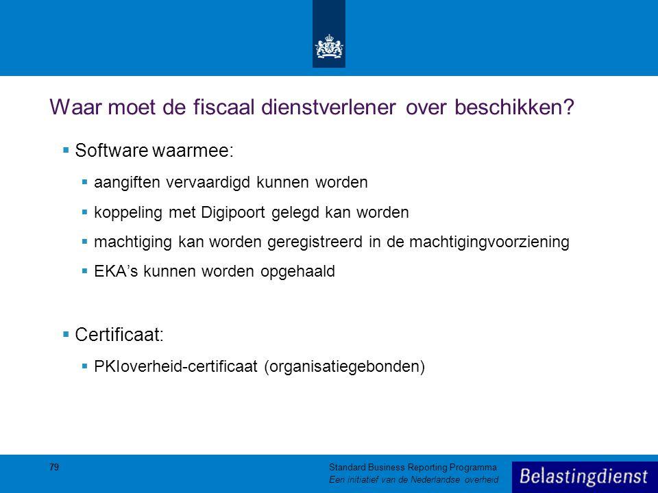 Waar moet de fiscaal dienstverlener over beschikken