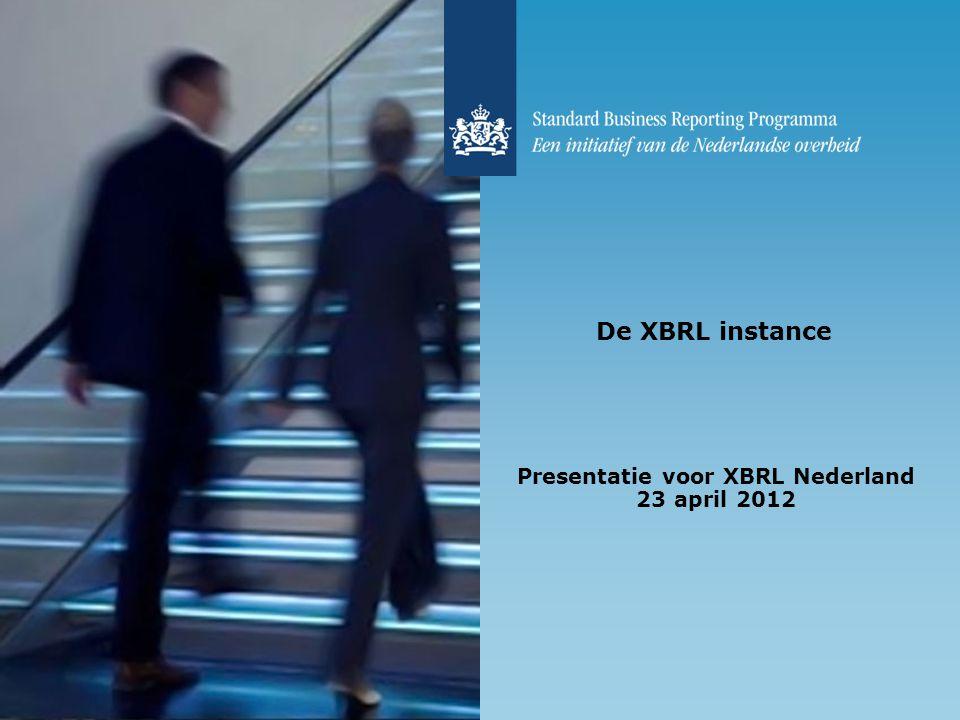 Presentatie voor XBRL Nederland