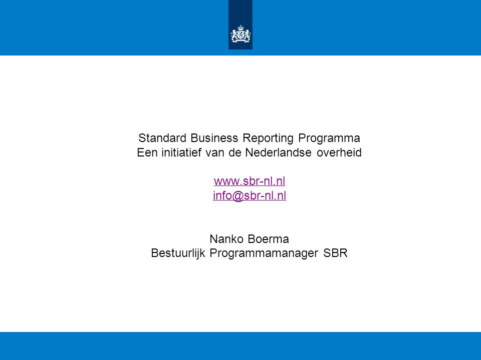 Standard Business Reporting Programma