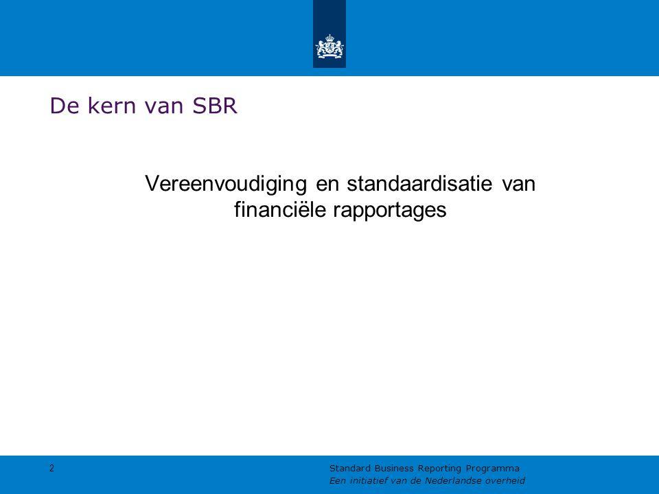 Vereenvoudiging en standaardisatie van financiële rapportages